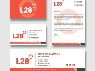 business cards, email signature, letterhead
