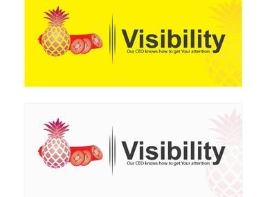 Banner design with logo