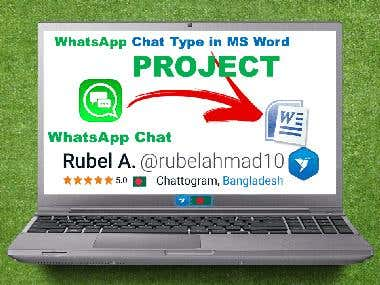 10. WhatsApp Chat To MS Word