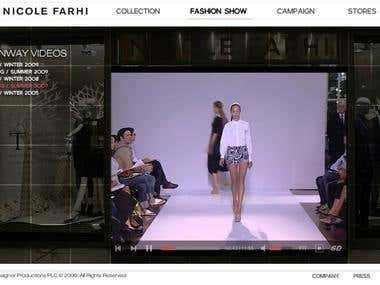 Nicole Farhi website re-coding