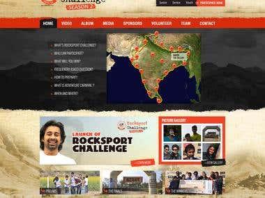 Rocksport Challenege Website