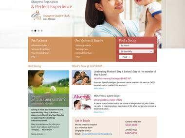 Web design for a popular Hospital