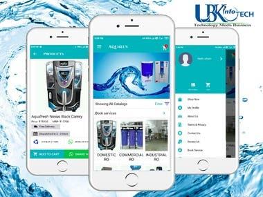 AQUALUS e-commerce app