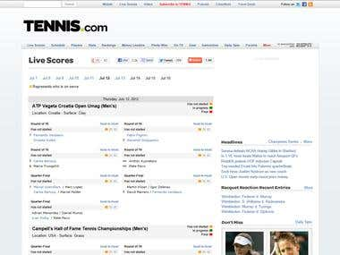 tennis.com website developer