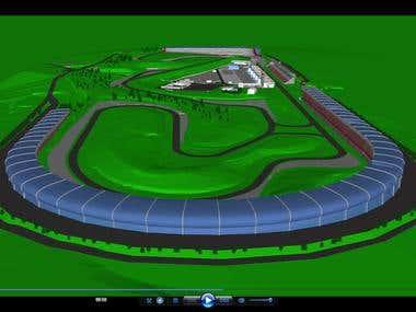 Car raising track- F1- Barcelona