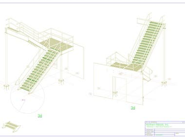 structural PEB steel by tekla for staircase steel
