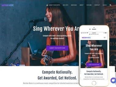 Music Contest Website Design + Content + Blog