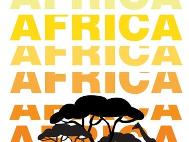AFRICA TRAVEL POSTER/ SWISS DESIGN STYLE