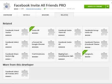 Facebook Chrome Event Extension