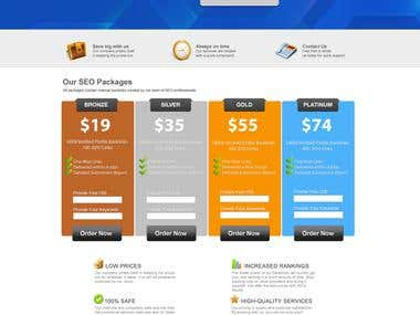 Wordpress template - E-Commerce