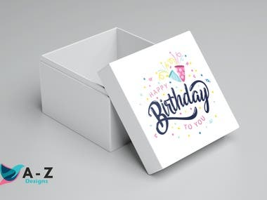 Birthday Box Design