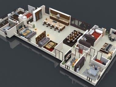 renderd floor plan