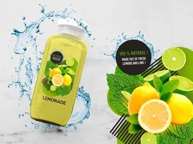 Lemonade bottle Design