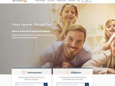 HomeEgg- Home Management Website