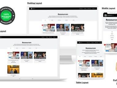 Business, marketing blog website