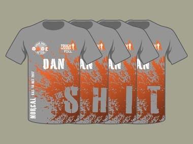 Design a T-Shirt for a Tough Mudder Group