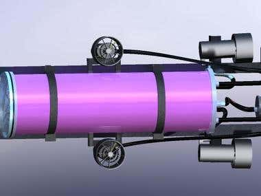 AUV model rendered pic