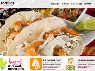 Tortillaz Food Service(WordPress)