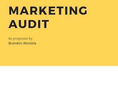 BBXX - Marketing Audit