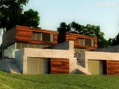 3D Architectural Rendering (Exterior)
