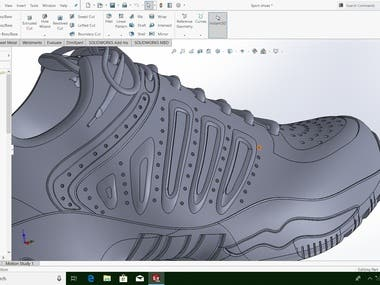 shoes design for man on Solidworks !!