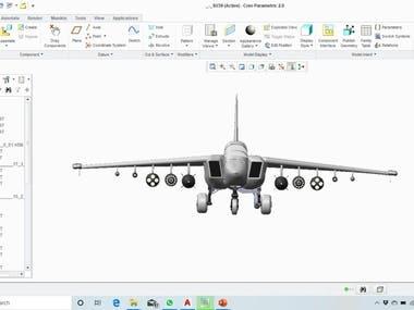 Design of Aeroplane on Creo Parametric!!
