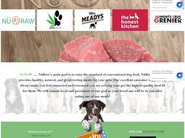 Wordpress Dog Food Shop