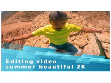 editing video Beautiful summer great photography