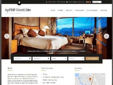 Wordpress booking site