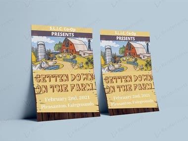 Getting Down on Farm Flyer Design