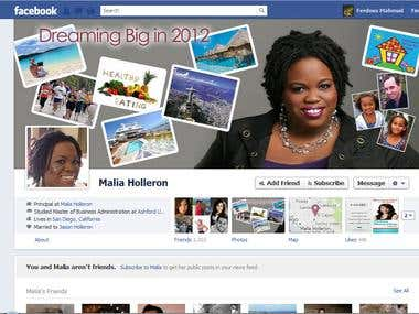Facebook Fan Page Timeline Design