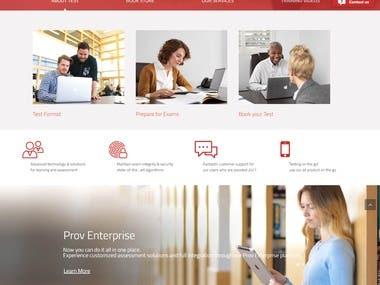 Website for Online Examination