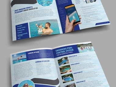 Hi-tech swiming pool brochure