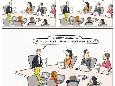 Comic Book Style Business Strips