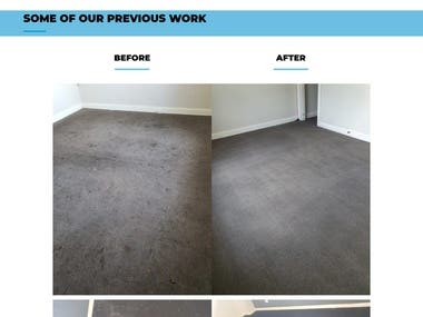 Carpet Cleaning Services Website