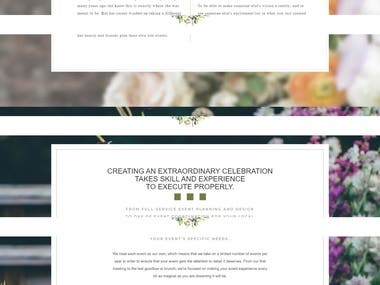 Wedding and Events Website
