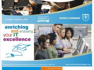 Brochure designed for Microsoft IT Academy