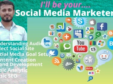 I will promote your business by all social media marketing