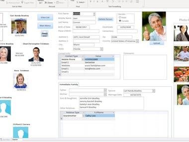 Ms Access Family Tree Database