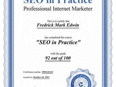 Certificate in SEO Practice & Internet Marketing