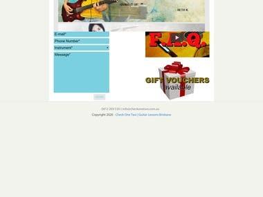 Musical Website in Wordpress