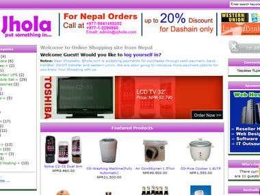 Ecommerce Site: Ejhola.com