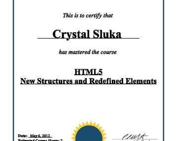 HTML5 Certificates Page 1