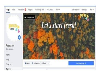 Facebook busines page creation/manage PESA marketing company