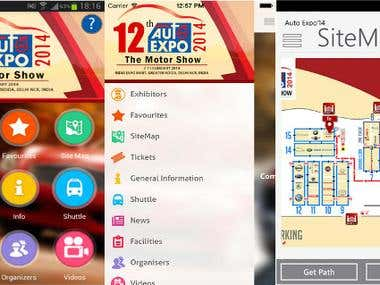 AutoExpo App for iOS(iPhone & iPad) & Android