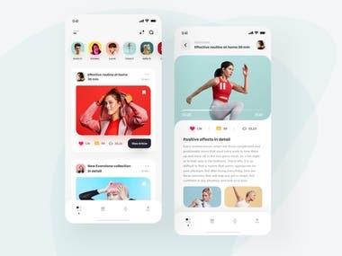 Fitness App Design In React Native