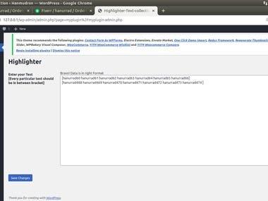 I made a WordPress highlighter plugin