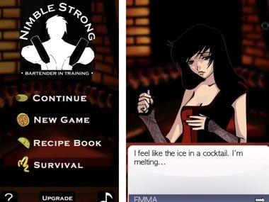 Nimble Strong Bar tender Coktail Mix Game