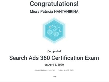 Search Ads 360 Certification Exam