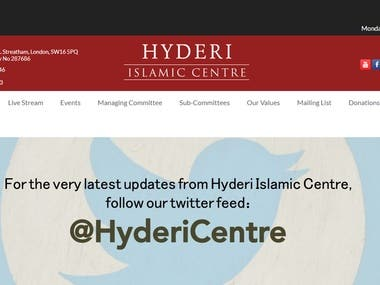 Website needs donation page - www.hyderi.org.uk